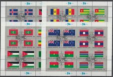 UNO New York Flaggen Kleinbogensatz 499-14 gestempelt (G-128)