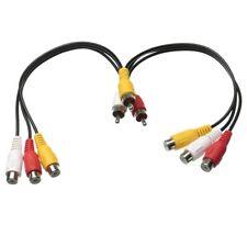 New 3 RCA Male To 6 RCA Female Plug Splitter Audio TV DVD Video Adapter AV Cable