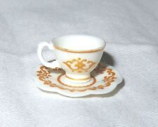 ACCESSORY ~ BARBIE DOLL MINIATURE SWEET TEA CUP & SAUCER DISHES FOR DIORAMA