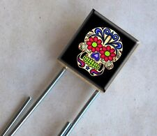 Sugar Skull Scrabble Bookmark Day of the Dead dia de los muertos Skeleton Charm