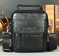 New Men Genuine Leather Cross Body Messenger Shoulder Business Handbag Tote Bag