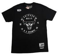 Mitchell & Ness Black NBA Chicago Bulls Champion Seal T-Shirt