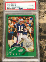 2002 Topps #248 Tom Brady Patriots MVP Promotion PSA EX-MT 6 POP 1 NO OTHERS
