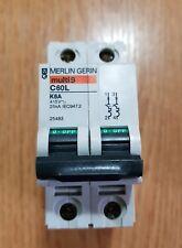 interruttore sezionatore magnetotermico bipolare Merlin Gerin multi9 C60L k6A