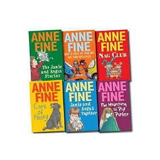Anne Fine Collection 6 Books Set (The Jamie and Angus Stories, Care of Henry..,)