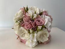 Silk flower bouquet hand-tie bridal style