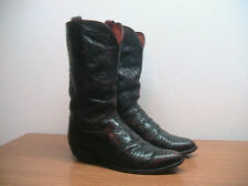 Mens 10 D Lucchese Oxblood Exotic Lizard Western Cowboy Boots