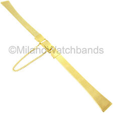 10mm Gilden Stainless Steel Gold Tone Safety Chain Ladies Watch Band