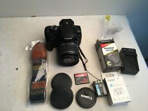 Canon Rebel XTi DSLR Camera with EF-S 18-55mm f/3.5-5.6 Lens +extras