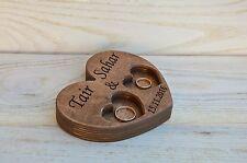 Personalized Rustic Wood Wedding Ring Bearer Pillow, Wedding Ring Holder, Box