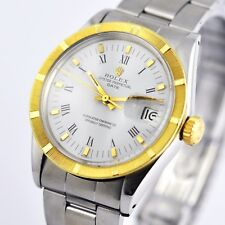 SWISS SIGNED ROLEX OYSTER DATE AUTOMATIC COSC GOLD & STEEL ORIGINAL GENTS WATCH