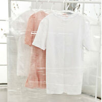 5Pcs Clear Plastic Suit Covers Garment Clothes Protector Hanging Storage Bags