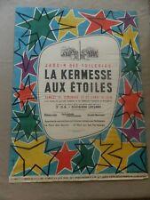 AFFICHE ancienne Jardin des Tuileries: La Kermesse aux étoiles Illust d'ALJANVIC