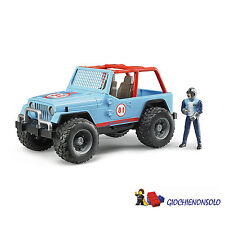 BRUDER 02541 - CROSS COUNTRY RACER BLU CON PERSONAGGIO