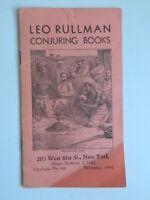 Leo Rullman Conjuring Libros Catálogo N º 44 , Noviembre 1941