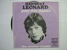 HERBERT LEONARD 45 TOURS BELGIQUE POUR ETRE SINCERE 3