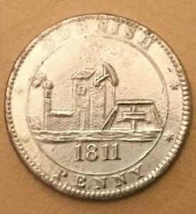 1811 Cornish One Penny Token Coin (For the Accommodation of the County).