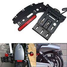 Folding Side Mount License Plate Light Bracket For Harley Sportster XL 883 1200