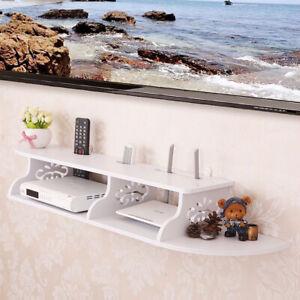 Floating Media Shelves Shelf For DVD TV AV Xbox Wall Mounted Console Unit Kit UK