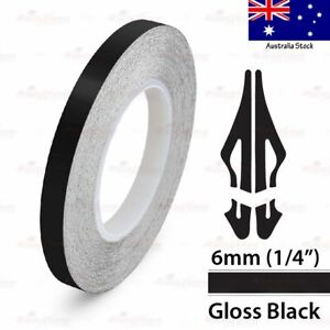 "1/4"" Vinyl Pinstriping Pin Stripe Car Styling Tape Decal Sticker 6mm GLOSS BLACK"