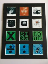 "ED SHEERAN DISCOGRAPHY PICTURE MOUNTED 14"" By 11"" READY TO FRAME"