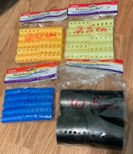 Lot of 34 Annie Magnetic Rollers Curlers Set Style Hair New Assorted Sizes