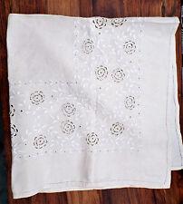 Vintage Silk bordado Lino Mantel.