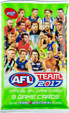 5x 2017 AFL TEAMCOACH FOOTY TRADING CARDS, SEALED BOOSTER PACKS, TEAM COACH AFL