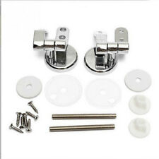 Zinc Alloy Universal Replacement MDF Wood Resin Toilet Seat Hinges &Fittings Set