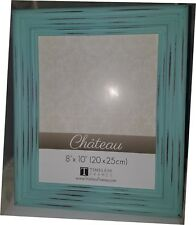 Fashionable Full Distressed Aqua Color Picture/Foto Frame 8 x 10 In