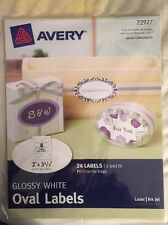 AVERY GLOSSY WHITE OVAL LABELS 22927