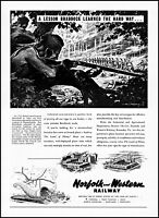 1951 Norfolk & Western Railway General Braddock vintage art print ad ads8