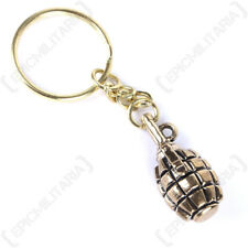 Grenade Keyring - Key Chain FOB Army Military Soldier Gift Weapon Metal Mens New