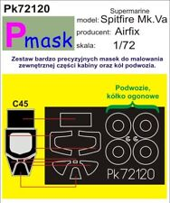 SPITFIRE MK.Va CANOPY & WHEELS PAINTING MASK for AIRFIX #72120 PMASK