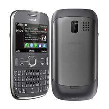 Nokia Asha 302 100% ORIGINALE SENZA FISSO Telefono cellulare Garanzia 3G Nero