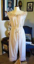 Civil War Dress Victorian Underpinnings Ivory Cotton Crotchless Pantaletts~Plus