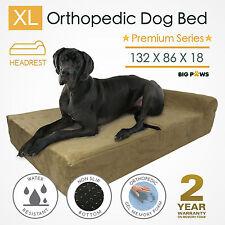 Memory Foam Dog Bed Mattress Extra Large Orthopedic Dog Bed Bolster Big Paws