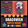 Pokemon Sword and Shield SHINY 6IV DRACOVISH BATTLE READY IV Can Breed w/ Ditto