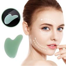 Natürliches Gua Sha Kristall Guasha Stein Gesicht Massage Körper Therapie NEU