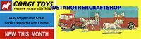 Corgi 1130 Chipperfields Circus Horse Transporter Poster Streamer Leaflet Sign