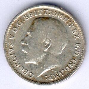 Großbritannien Georg V. (1865-1936) 3 Pence 1917 Silver KM#813, ss