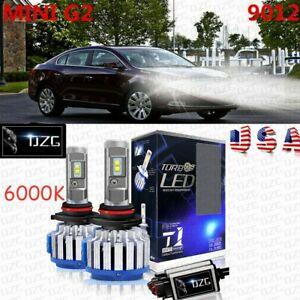 2x 9012 HIR2 LED Headlight Bulbs Conversion Kit Hi/Lo Beam Lamps 70W 6000K White