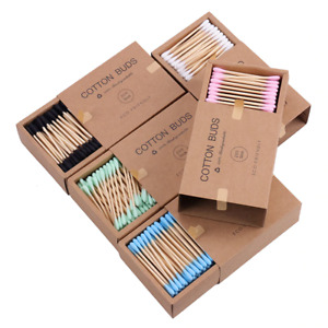 200PCS/Box Double Head Cotton Swab Bamboo Sticks Cotton swab