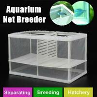 Fish Tank Aquarium Net Case Breeder Incubator Breeding T4Y4 Frame Box K6K4
