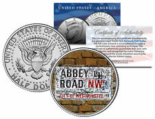 BEATLES * The Original ABBEY ROAD Street Sign * Kennedy Half Dollar US Coin