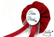 Orden Team Bride rot JGA Herz Deko Accessoire Anstecker Button Hochzeit Braut