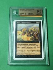 1999 MTG PORTAL THREE KINGDOMS #79 OVERWHELMING FORCES. BGS GRADED 9.5 GEM MINT