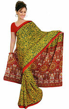 mousseline Bollywood Carnaval SARI ORIENT INDE fo350