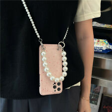 Strawberry milkshake Pearl Strap Case Cover for Iphone 12 11 Pro Max XS XR 7 8+