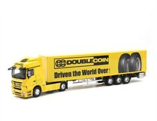 1/50 Mercedes Benz Container Truck Trailer Double Coin Tires Diecast Car Model